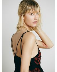 Free People - Multicolor Intimately Womens Embroidered Babydoll Slip - Lyst