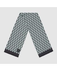 Gucci | Green Wicker Print Washed Twill Scarf for Men | Lyst