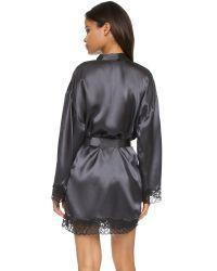 Calvin Klein Gray Fearless Silk Robe