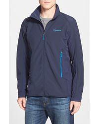 Patagonia Blue 'adze' Windproof Hybrid Jacket for men
