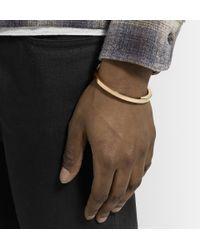 Miansai Metallic Gold-Plated Cuff for men