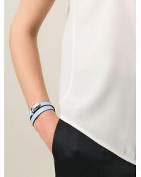 BVLGARI   Blue Double Wrap Snake Bracelet   Lyst
