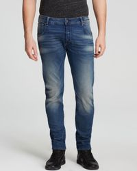 G-Star RAW | Blue Arc 3d Slim Fit Jeans In Medium Aged for Men | Lyst