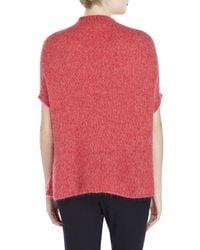 Hache | Pink Fuzzy Knit Dolman Sweater | Lyst