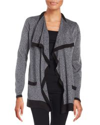 Calvin Klein | Black Knit Open-front Sweater | Lyst