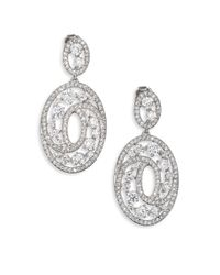 Adriana Orsini | Metallic Celestial Oval Drop Earrings | Lyst