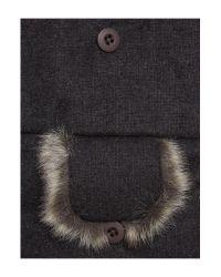 Howick Gray Felt Trapper Hat for men