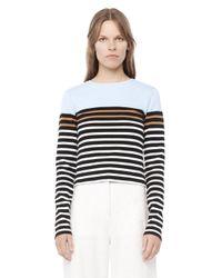 Alexander Wang - Multicolor Engineered Stripe Long Sleeve Tee - Lyst