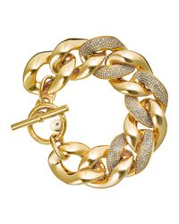 Michael Kors | Metallic Pave Curb Chain Link Bracelet | Lyst