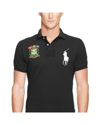 Polo Ralph Lauren - Black Custom-fit Big Pony Polo Shirt for Men - Lyst