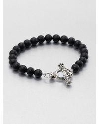 King Baby Studio | Metallic Black Onyx Beaded Bracelet for Men | Lyst