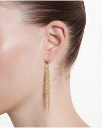 Natasha Collis Metallic 18K Gold Waterfall Earrings