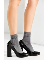 Urban Outfitters Black Nell Platform Heel
