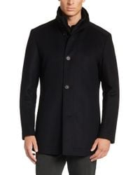 BOSS Blue Coat In A New-wool Blend With Cashmere: 'coxtan4' for men