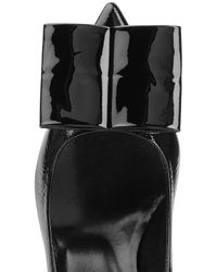 Pierre Hardy - Patent Leather Kitten Heels With Statement Bow - Black - Lyst