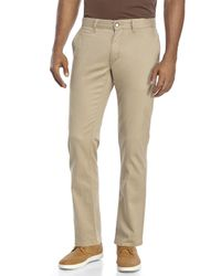 Perry Ellis - Natural Slim Fit Straight Twill Pants for Men - Lyst