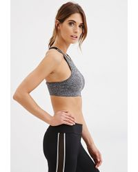 Forever 21 - Gray Low Impact - Crisscross Back Sports Bra You've Been Added To The Waitlist - Lyst