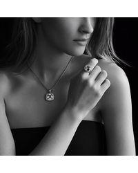 David Yurman   Black Albion Ring With Diamonds, 11mm Gemstone   Lyst