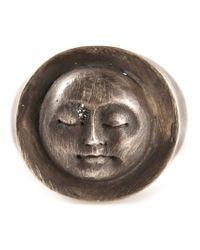 Henson - Metallic 'moonface' Ring - Lyst