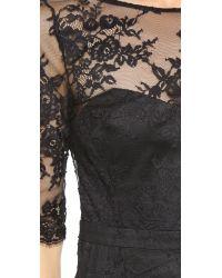 FEMME D'ARMES - Black Magali Lace Gown - Lyst