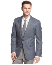 Tommy Hilfiger - Blue Trim-fit Houndstooth Windowpane Sport Coat for Men - Lyst