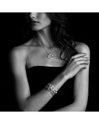 David Yurman - Confetti Threerow Cuff with Black Onyx Hematine and Diamonds - Lyst