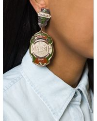 Jean Paul Gaultier - Green Oversized Clip-on Earrings - Lyst