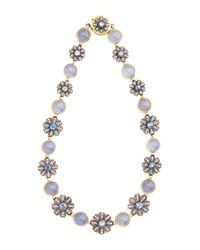 Arman Sarkisyan - White One Of A Kind Chalcedony and Blue Sapphire Collar Necklace - Lyst
