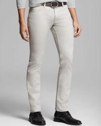 John Varvatos Gray Usa Jeans Bowery Slim Fit in Vapor for men