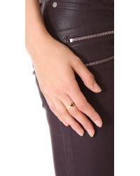 Jennifer Zeuner Metallic Hamsa Eternity Band Ring