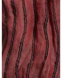 John Varvatos - Red Modal Silk Stripe Scarf for Men - Lyst