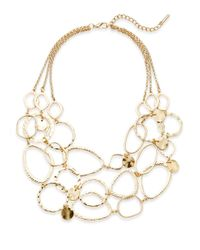 Saks Fifth Avenue - Metallic Hammered Loop Bib Necklace - Lyst