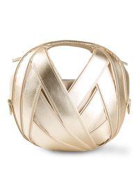PERRIN Paris Metallic Small Riva Ball Bag