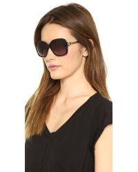 M Missoni Oversized Square Sunglasses Blackgradient Grey
