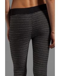 Obey Distant Shore Striped Sweater Leggings in Black