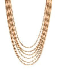 Forever 21 | Metallic Layered Snake Chain Necklace | Lyst