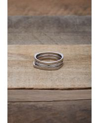 Forever 21 Metallic Men Vitaly Shapes Ring Set for men