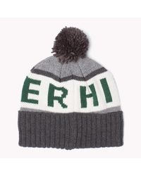 Tommy Hilfiger   Green Printed Beanie for Men   Lyst