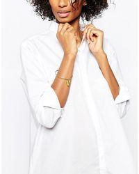 Mirabelle | Metallic Textured Brass Bracelet | Lyst