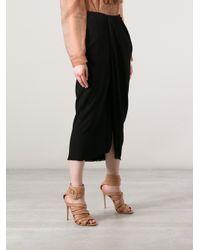 Lanvin   Blue Draped Floor Length Skirt   Lyst