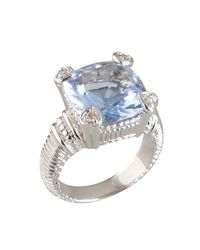 Judith Ripka | Metallic Blue Quartz And Diamond 'Fontaine' Ring | Lyst