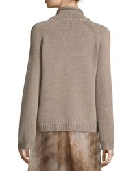 Sally Lapointe - Brown Cashmere Knit Turtleneck Sweater - Lyst