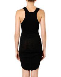 Étoile Isabel Marant - Black Lena Ribbed Cotton-Jersey Dress - Lyst