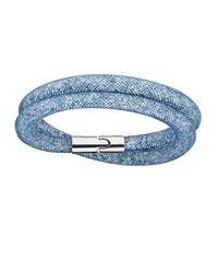 Swarovski | Blue Stardrust Wrap Bracelet | Lyst