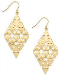 Lauren by Ralph Lauren Metallic Gold-Tone Triangle Chandelier Earrings