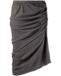 DRKSHDW by Rick Owens Gray Shrimp Skirt