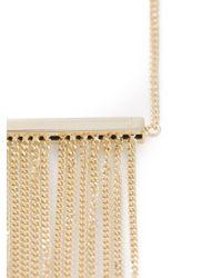 MM6 by Maison Martin Margiela - Metallic Chain Fringe Pendant Necklace - Lyst