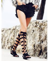 Free People | Black Cypress Gladiator Sandals | Lyst