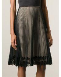 Christopher Kane | Black Pleated Tulle Skirt | Lyst