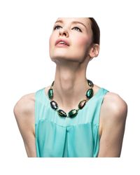 Lulu Frost | Blue Scarab Procession Necklace | Lyst